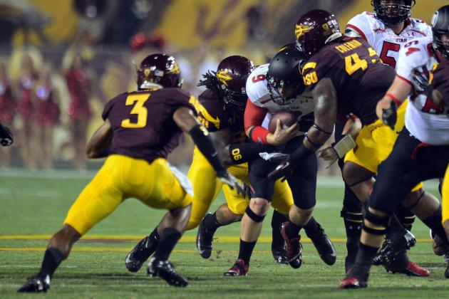 ASU Football's Defensive Line in Full Scramble