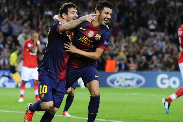 Barcelona's Lionel Messi Rejects Talk of Tension with David Villa