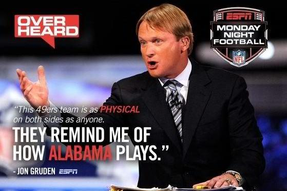 Tide Release Gruden-Themed Recruiting Flyer