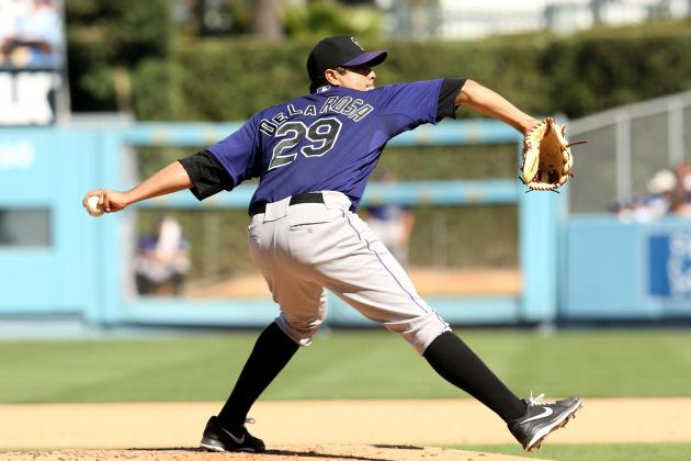Colorado Rockies Pitcher Jorge De La Rosa Exercises His 2013 Option