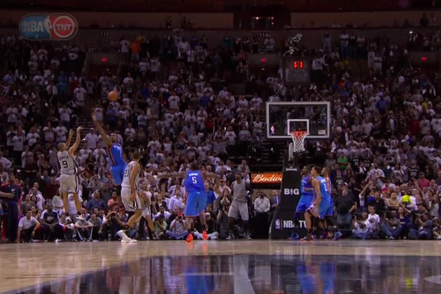 OKC Thunder vs. San Antonio Spurs: Tony Parker Hits the Game-Winner