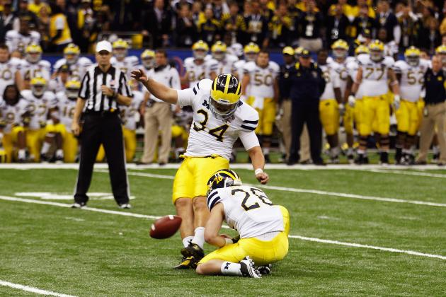 Michigan's Kicking Woes Fade Away