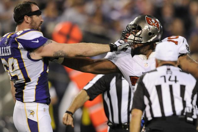 Donald Penn, Jared Allen Draw Fines for in-Game Fight