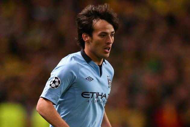 David Silva out of Champions League Clash