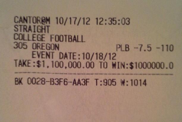 Floyd Bets $1.1M on Oregon