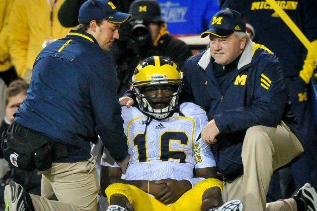 Denard Robinson Ruled out vs. Minnesota; Devin Gardner Will Start at QB