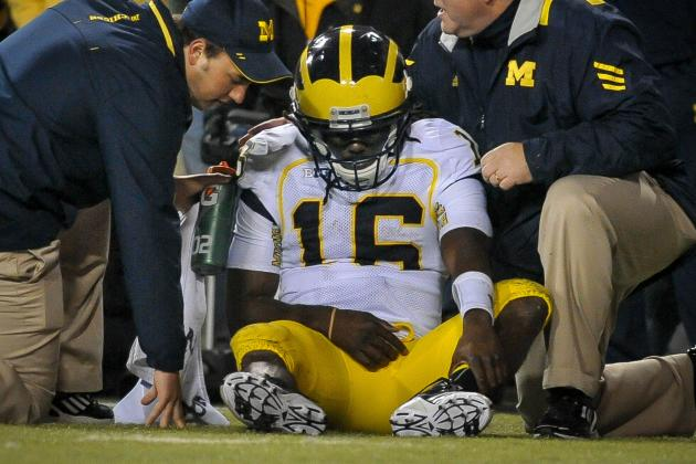 Michigan Wolverines QB Denard Robinson Ruled out Today vs. Minnesota