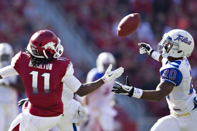Johnson, Hamilton Lead Arkansas Past Tulsa 19-15