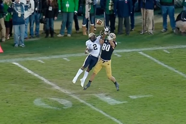 Controversial Notre Dame Pass Interference Call: Refs Blow It