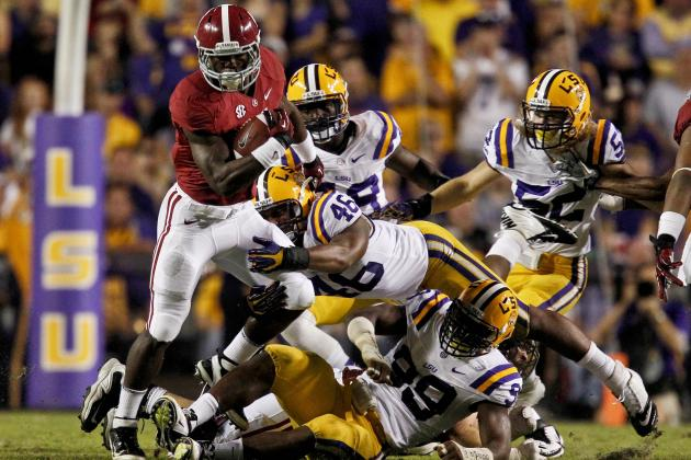 Alabama vs. LSU: Alabama's T.J. Yelton Scores the Game-Winning Touchdown