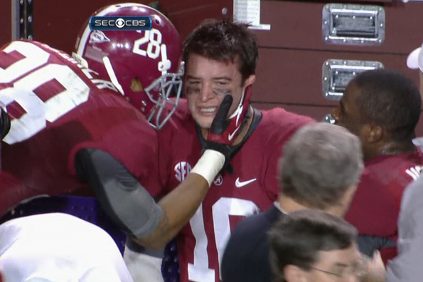 McCarron Gets Emotional on Sideline