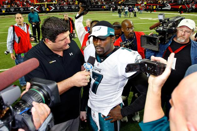 Eagles QB Vick Points at Media for 'turmoil'