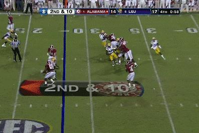 Alabama vs. LSU: Alabama's T.J. Yelton Scores the Game-Winning Touchdown