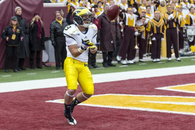 Michigan Wide Receivers Bail out Devin Gardner on Several Occasions