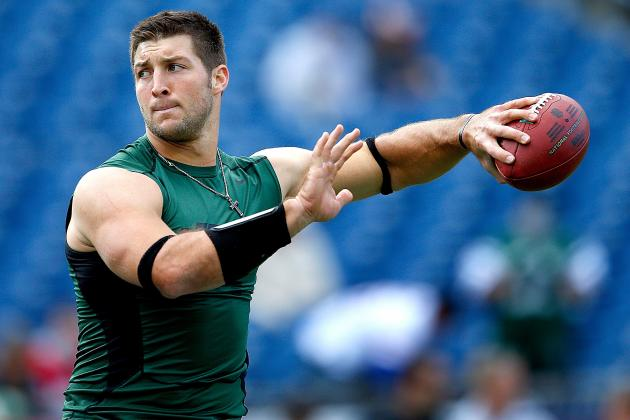 Tim Tebow: Fantasy Expectations for Jets QB Following Week 9 Bye