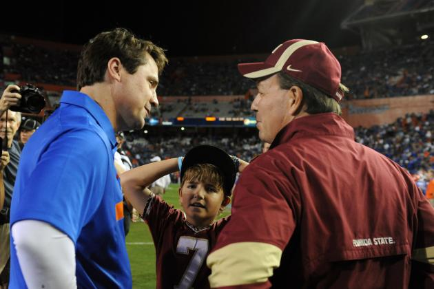 Florida State Football: Is Jimbo Fisher a Better Coach Than UF's Will Muschamp?