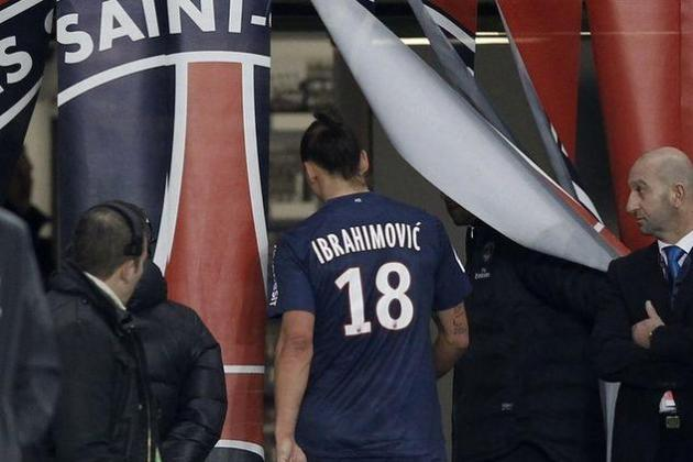 Ibrahimovic Sees Red as Saint-Etienne Gives PSG First Ligue 1 Loss
