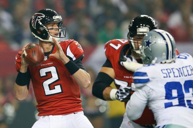 Cowboys vs. Falcons: Matt Ryan Outlasts Tony Romo in Defensive Battle
