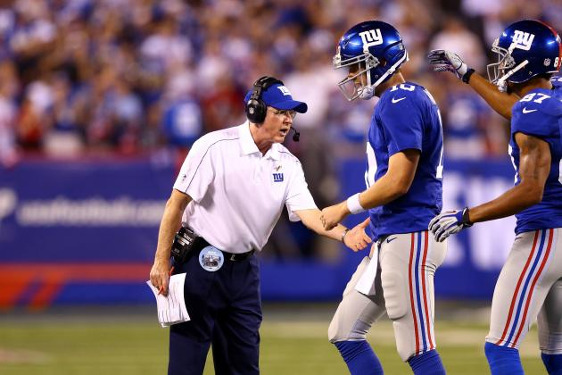 Coughlin, Manning Disagree on Issue with Giants Passing Game