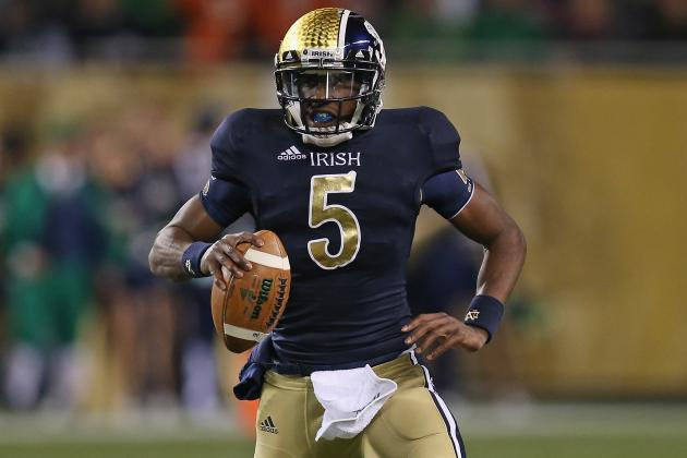 Notre Dame QB Golson Close to Avoiding Hook Pattern