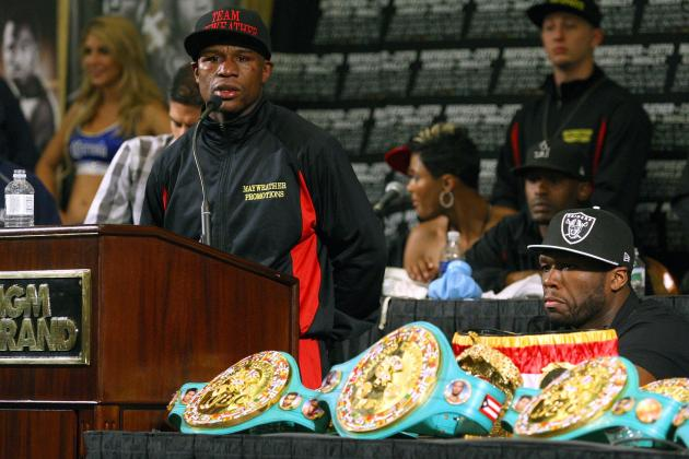 50 Cent Says Twitter Beef with Floyd Mayweather Was Fake