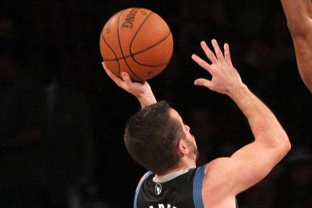 J.J. Barea Knocked out of the Wolves-Raptors Game with a Concussion