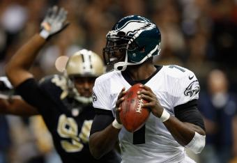 Vick has faced pressure all night long.