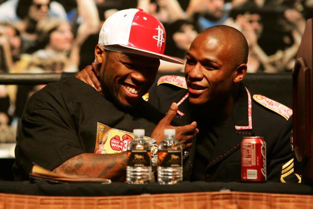 Floyd Mayweather: 50 Cent Tweets War of Words a Stunt but Then Takes a Shot