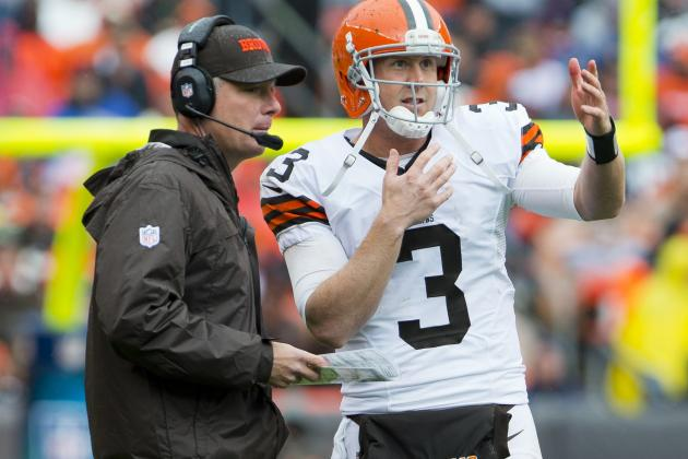 Cleveland Browns' Pat Shurmur Gives QB Brandon Weeden Vote of Confidence