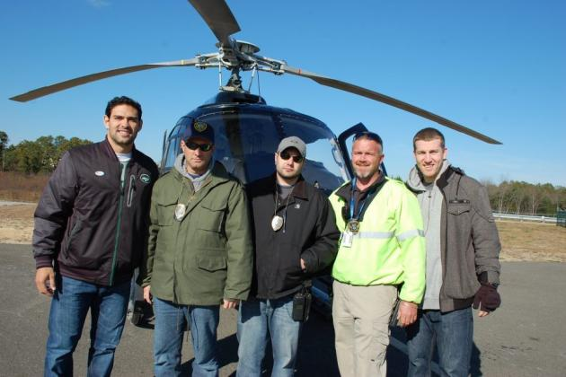 Mark Sanchez Travels to Jersey Shore to Help in Cleanup After Superstorm Sandy