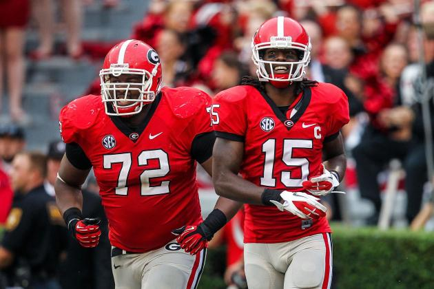 UGA's Gates Puts Versatility to Use as He Rotates Through Offensive Line
