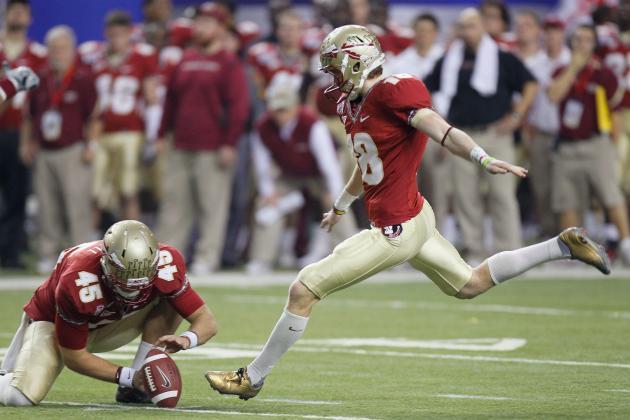 FSU Kicker Dustin Hopkins Could Reach NCAA Scoring Mark at Virginia Tech