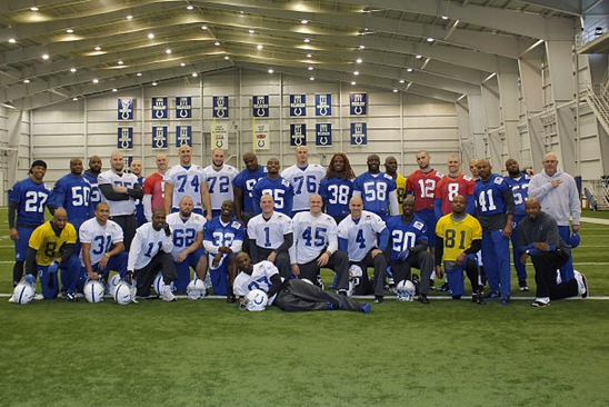 Andrew Luck, Colts Players Shave Their Heads in Support of Chuck Pagano