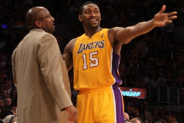 Mike Brown Says Expect to See Metta World Peace at Shooting Guard