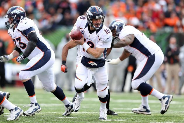 Broncos' Peyton Manning Appreciative of Offensive Line Sack Streak