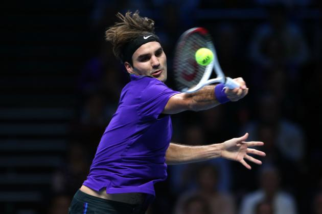 Roger Federer Defeats David Ferrer at 2012 ATP World Tour Finals