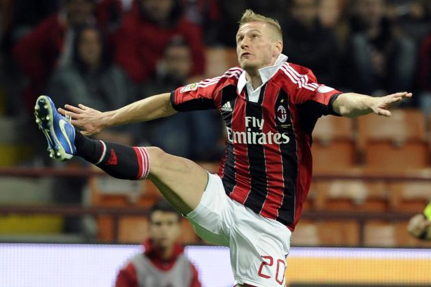 AC Milan's Ignazio Abate Out for a Fortnight