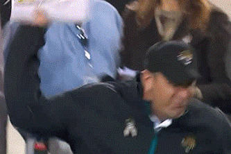 Mike Mularkey Loses It, Throws Headset [GIF]