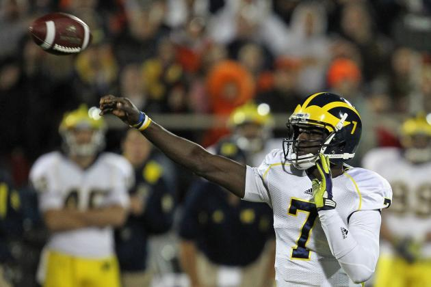 Michigan Football: Why Devin Gardner Must Start over Denard Robinson vs Wildcats