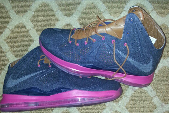 LeBron's New Denim Kicks