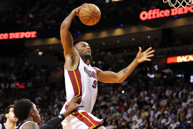 Rashard Lewis Showing Fresh Legs with Heat