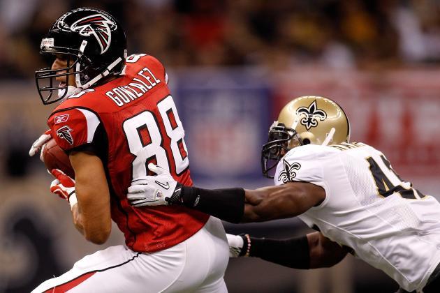 New Orleans Saints' Defense on High Alert for Falcons Tight End Tony Gonzalez