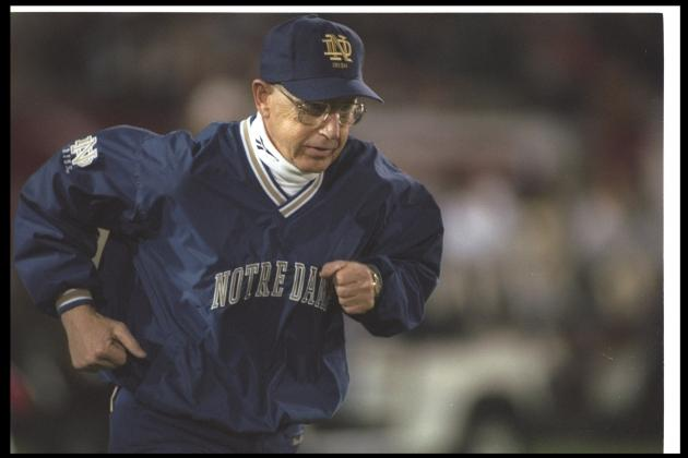 Notre Dame Football: Holtz Era Pitted Against Post-Holtz Era