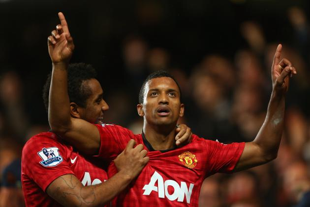 Manchester United: Nani out of Aston Villa Clash with Hamstring Injury