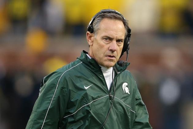 Michigan State Coach Mark Dantonio Looks to Stay Positive, Focused