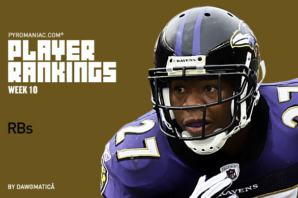 Fantasy Football Week 10: Rankings for the Top 50 Running Backs