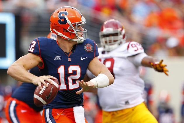 QB Ryan Nassib Is Within 244 Yards of School Record for Career Passing Yards