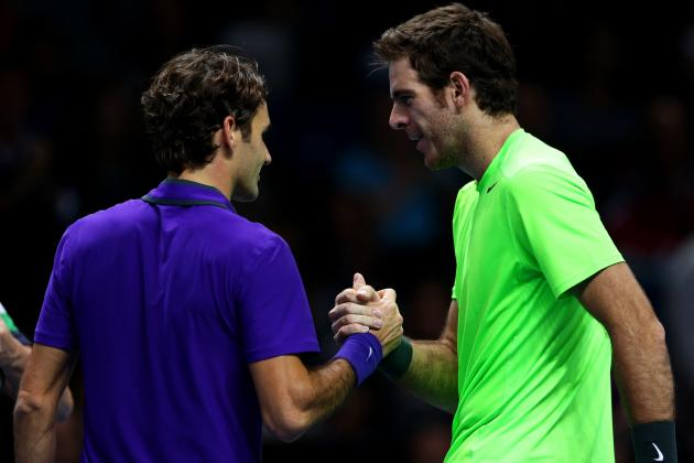 Roger Federer Upset by Juan Martin Del Potro in 3 Sets at ATP World Tour Finals