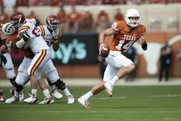 Ash Throws 2 TDs as No. 17 Texas Rolls to Win