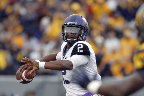 TCU QB Boykin Leaves Game with Injury